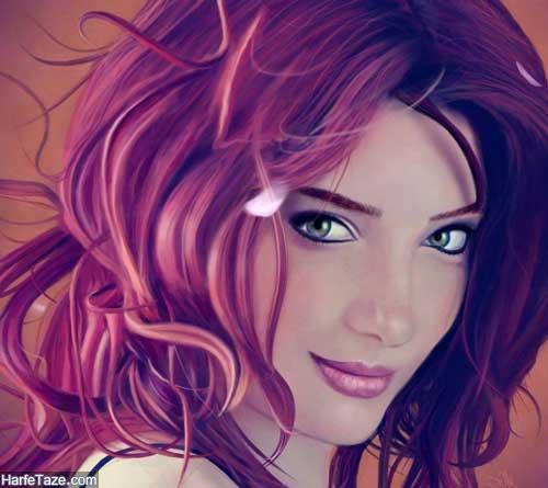 نقاشی دختر برای پروفایل