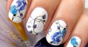طراحی زیبا و مجلسی ناخن با طرحهای گل دار