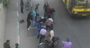 فیلم و عکس سقوط دو دختر از پل چمران اصفهان