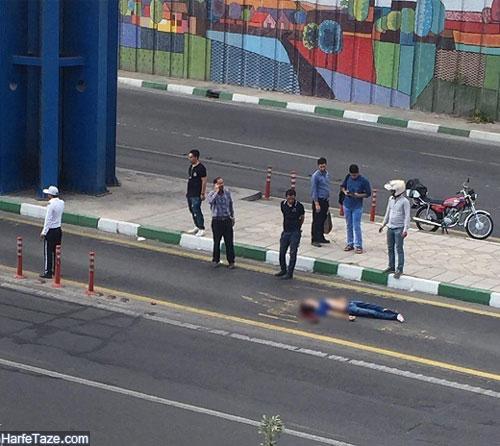 خودکشی یک مرد از پل خیابان دماوند