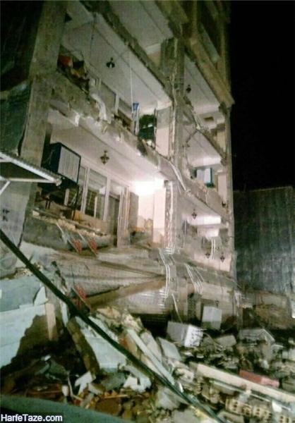 زلزله دیشب کرمانشاه