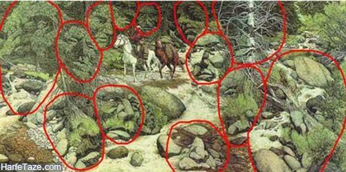 معمای تعداد چهره مخفی