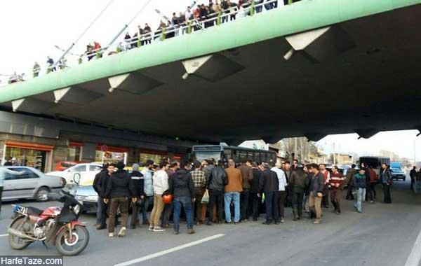 خودکشی پل کابلی تبریز
