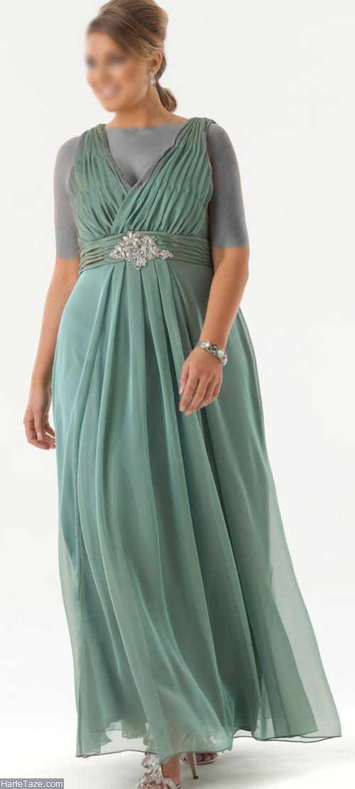 لباس مجلسی خانمهای چاق
