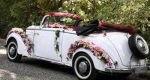 عکسهای تزئین ماشین عروس جدید با بادکنک و گل 97