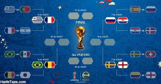 برنامه بازیهای یک چهارم نهایی جام جهانی