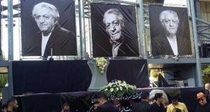 عکسهای مراسم تشییع جنازه عزت الله انتظامی