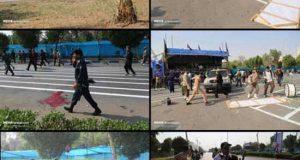 تصاویر و فیلم لحظه تروریستی رژه نیروهای مسلح اهواز