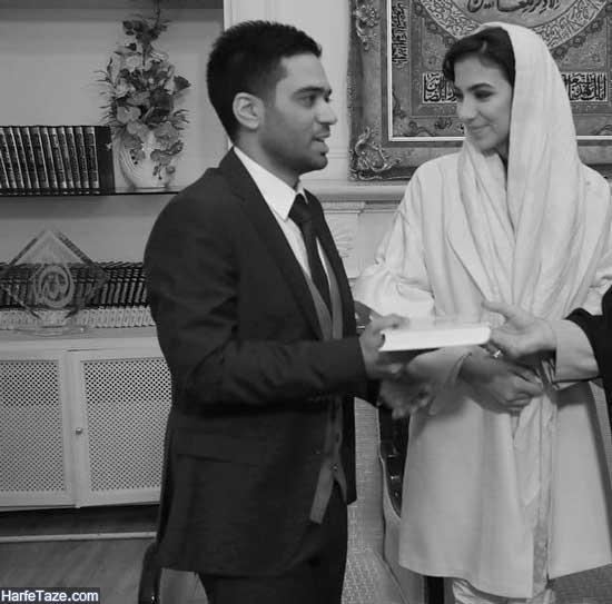 ازدواج سارا خادم با اردشیر احمدی