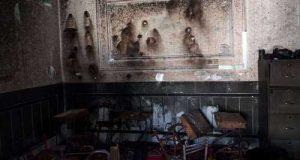 عکسها و ماجرای آتش سوزی مدرسه اسوه حسنه زاهدان