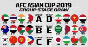 برنامه کامل و ساعت بازیهای جام ملتهای آسیا 2019
