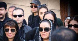 عکسهای مراسم تشییع جنازه پیام صابری همسر زیبا بروفه
