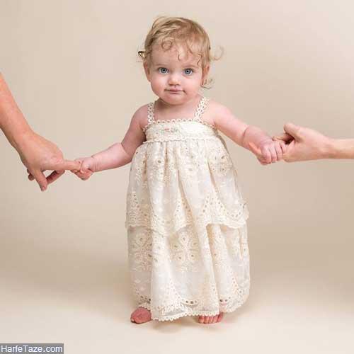 لباس توری نوزادی