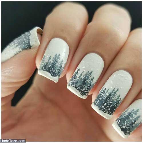 طراحی ناخن زمستانی
