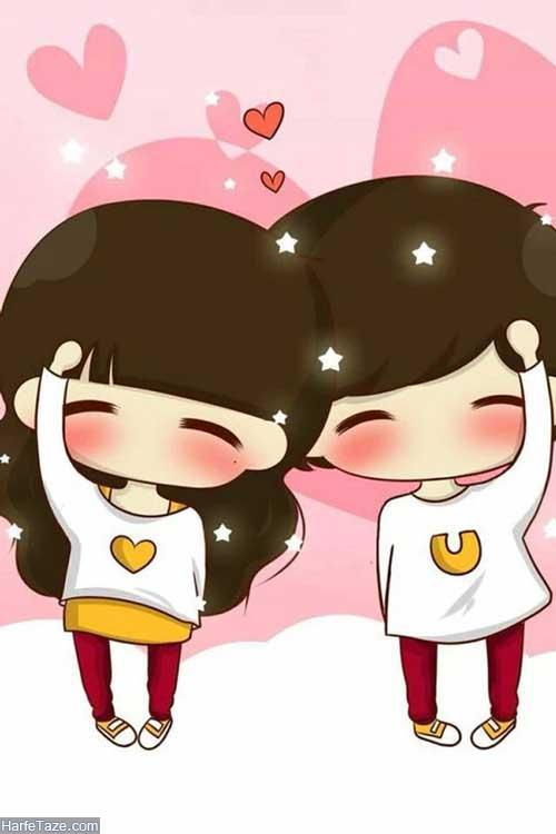 عکس فانتزی عاشقانه کارتونی برای پروفایل