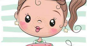 عکس کارتونی دخترانه برای پروفایل + متن بیو دخترونه