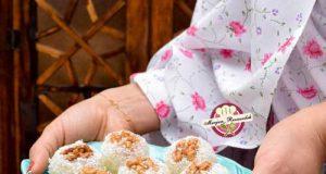 طرز تهیه باسلوق گردویی شیرینی عید نوروز