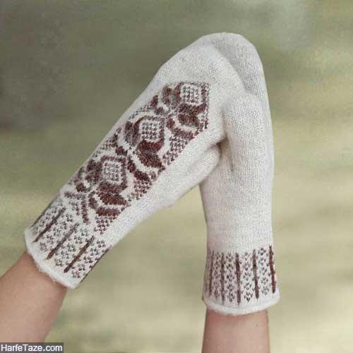 دستکش بافتی دخترانه
