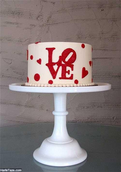 مدل کیک قلب