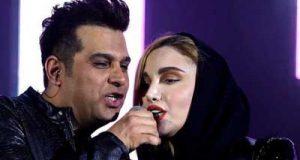 تک خوانی نگین پارسا در کنسرت حمید عسکری
