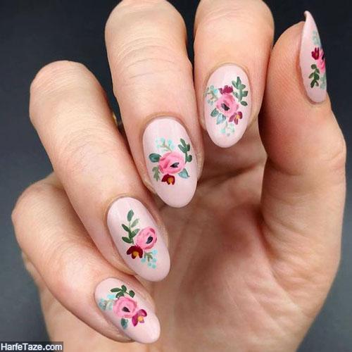 طراحی ناخن گل گلی