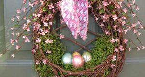 حلقه تزیینی درب ورودی در آستانه عید و فصل بهار