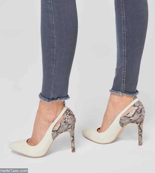 کفش پوست ماری زنانه