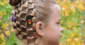 مدلهای بستن مو و بافت موی دختربچه ها
