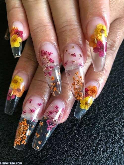 ناخن گل گلی