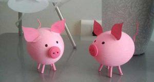 مدلهای تزیین تخم مرغ به شکل خوک