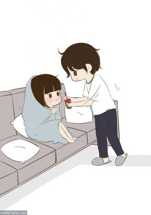 عکس رمانتیک کارتونی