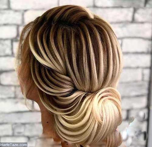 شینیون خطی موی خیلی کوتاه