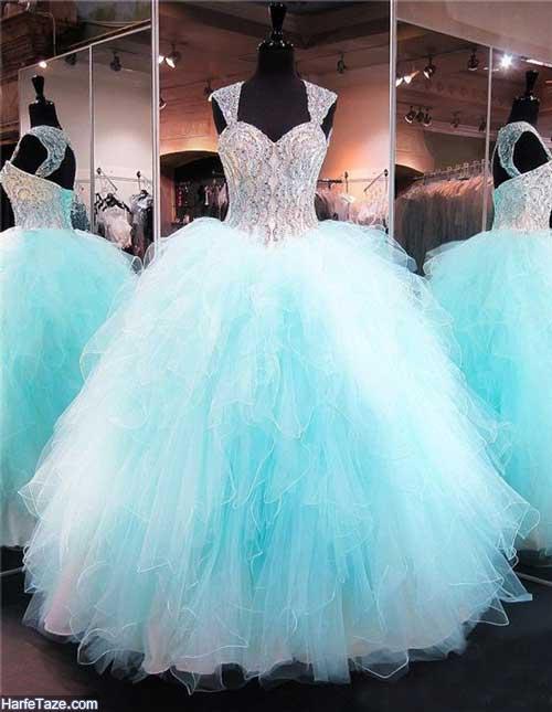 لباس مجلسی آبی