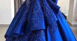 ژورنال لباس مجلسی آبی کاربنی جدید