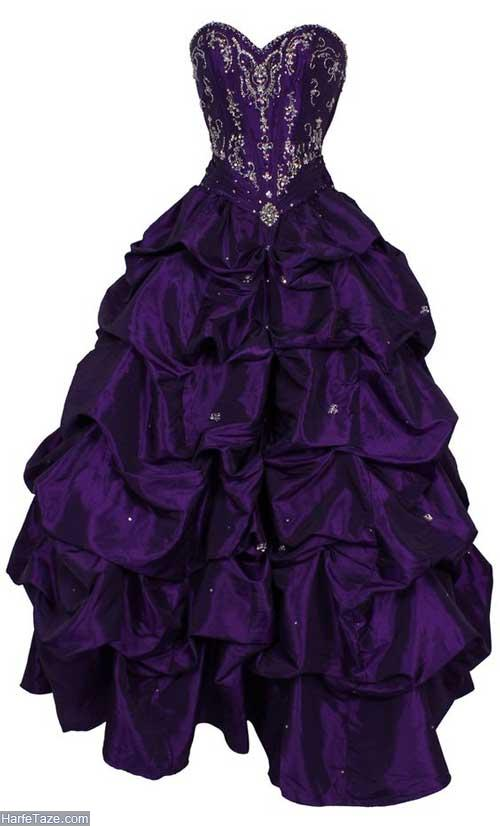 لباس مجلسی بنفش