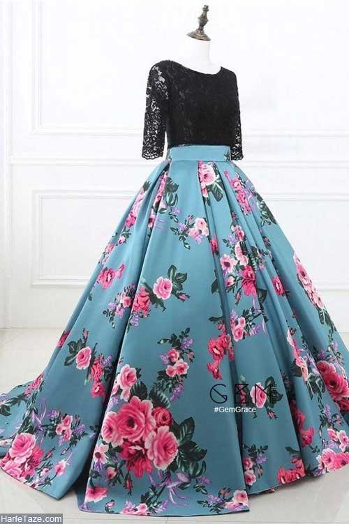 لباس مجلسی گلدار