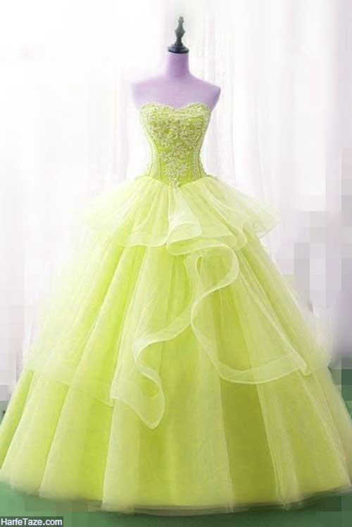 لباس مجلسی لیمویی