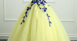 مدلهای جدید لباس مجلسی لیمویی رنگ