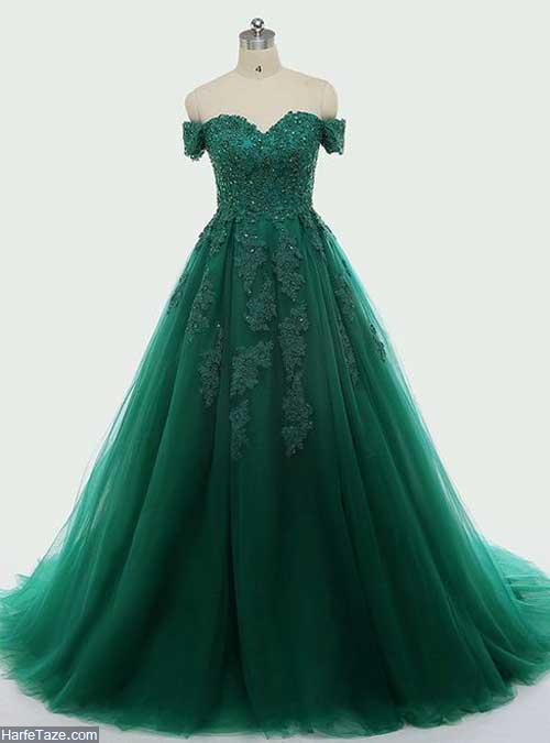 لباس مجلسی سبز