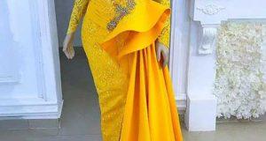 مدلهای شیک لباس مجلسی زرد رنگ