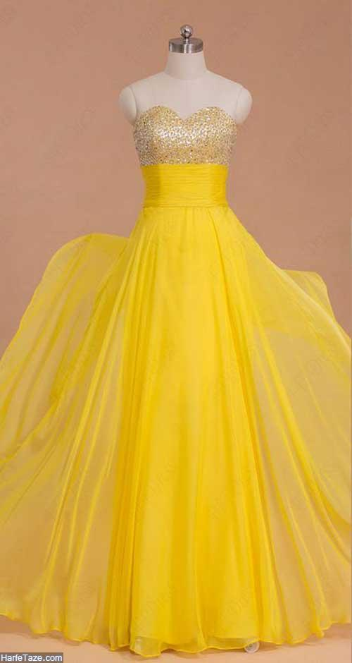 لباس مجلسی زرد
