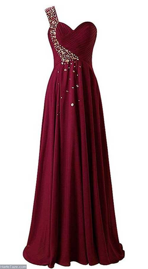 لباس مجلسی زرشکی