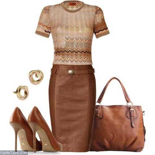 لباس زنانه قهوه ای