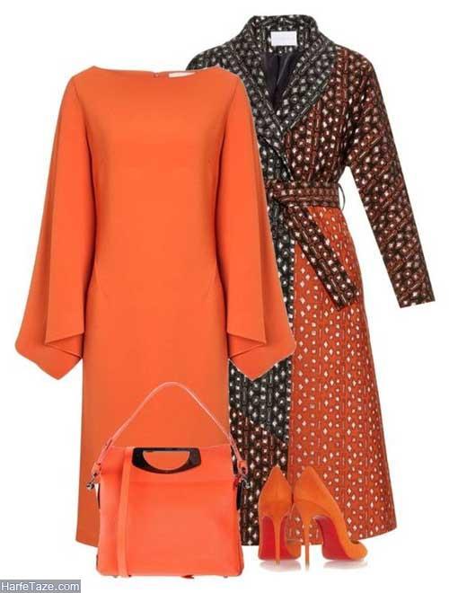لباس زنانه نارنجی