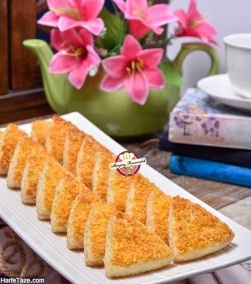 شیرینی مونت کارلو نارگیلی