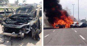 تصادف یک اتوبوس با ۱۱ خودرو در اتوبان تهران ساوه + آمار فوتی ها