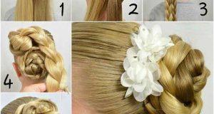 24 آموزش تصویری بستن مو در خانه به صورت مرحله ای