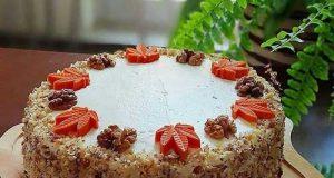 طرز تهیه کیک هویج گردو خانگی فوق العاده خوشمزه