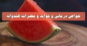 خواص درمانی هندوانه و فواید و عوارض زیاد خوردن