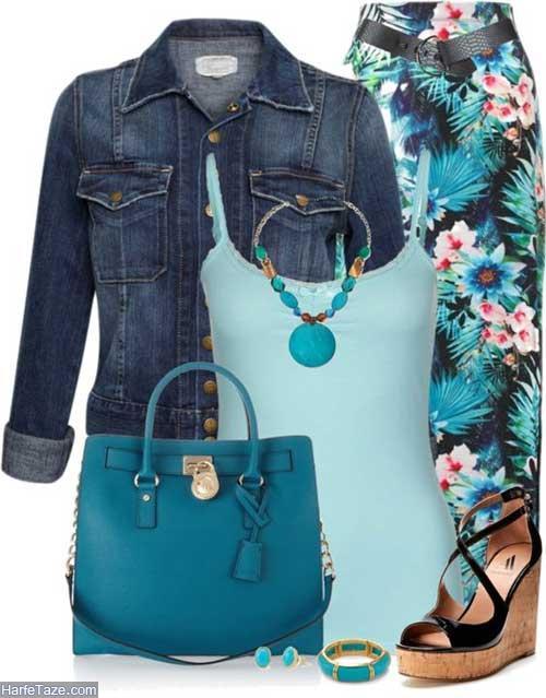 لباس جین زنانه